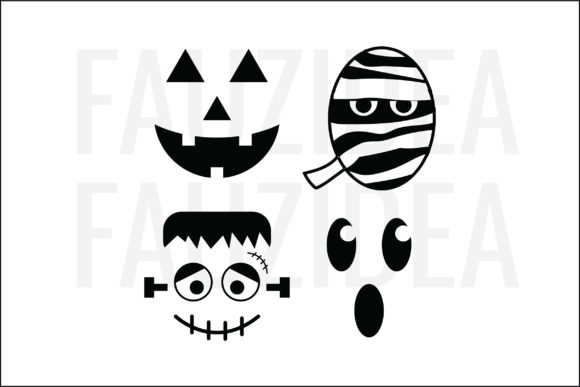 Download Free Ghost Halloween Graphic By Fauzidea Creative Fabrica for Cricut Explore, Silhouette and other cutting machines.