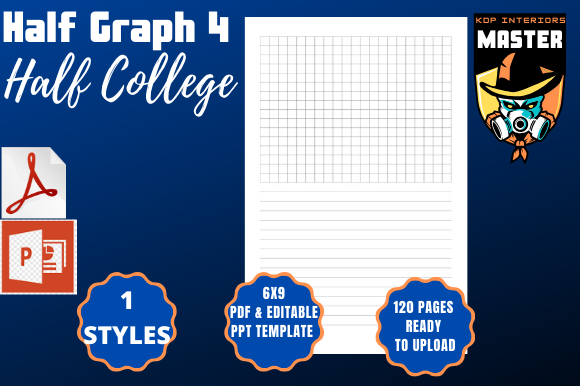 Download Free Half Graph 4 Half College Graphic By Kdp Interiors Master for Cricut Explore, Silhouette and other cutting machines.