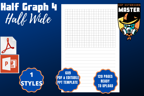 Download Free Half Graph 4 Half Wide Graphic By Kdp Interiors Master for Cricut Explore, Silhouette and other cutting machines.