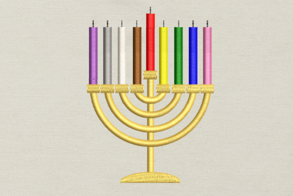 Download Free Hanukkah Menorah Applique Creative Fabrica for Cricut Explore, Silhouette and other cutting machines.