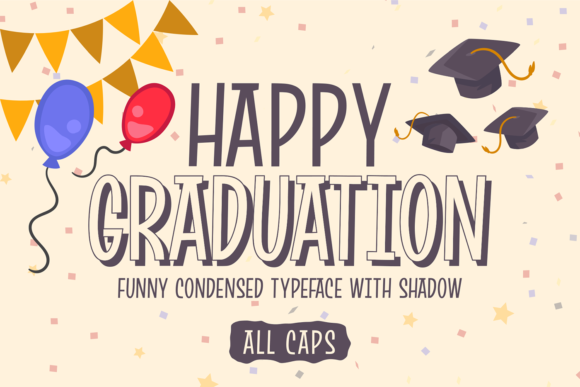 Print on Demand: Happy Graduation Display Fuente Por brithostype