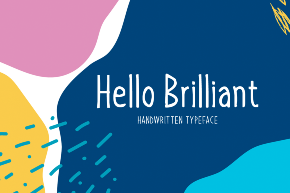 Download Free Hello Brilliant Font By Seemly Fonts Creative Fabrica for Cricut Explore, Silhouette and other cutting machines.