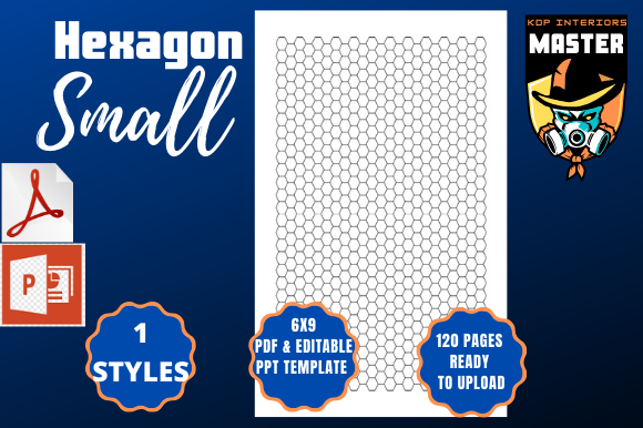 Download Free Hexagon Small Graphic By Kdp Interiors Master Creative Fabrica for Cricut Explore, Silhouette and other cutting machines.