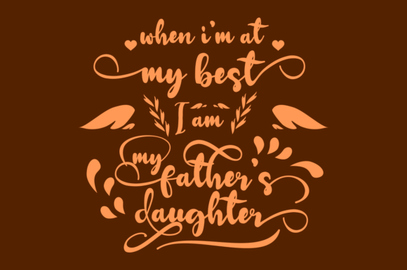 Print on Demand: I and Father Quote Graphic Crafts By Rusd studio