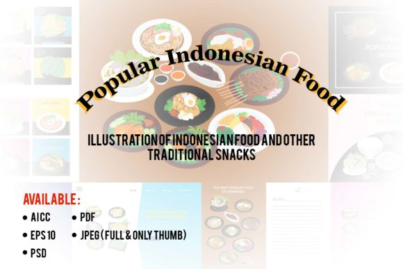 Download Free Indonesia The Best Popular Food Graphic By Griyolabs Creative for Cricut Explore, Silhouette and other cutting machines.