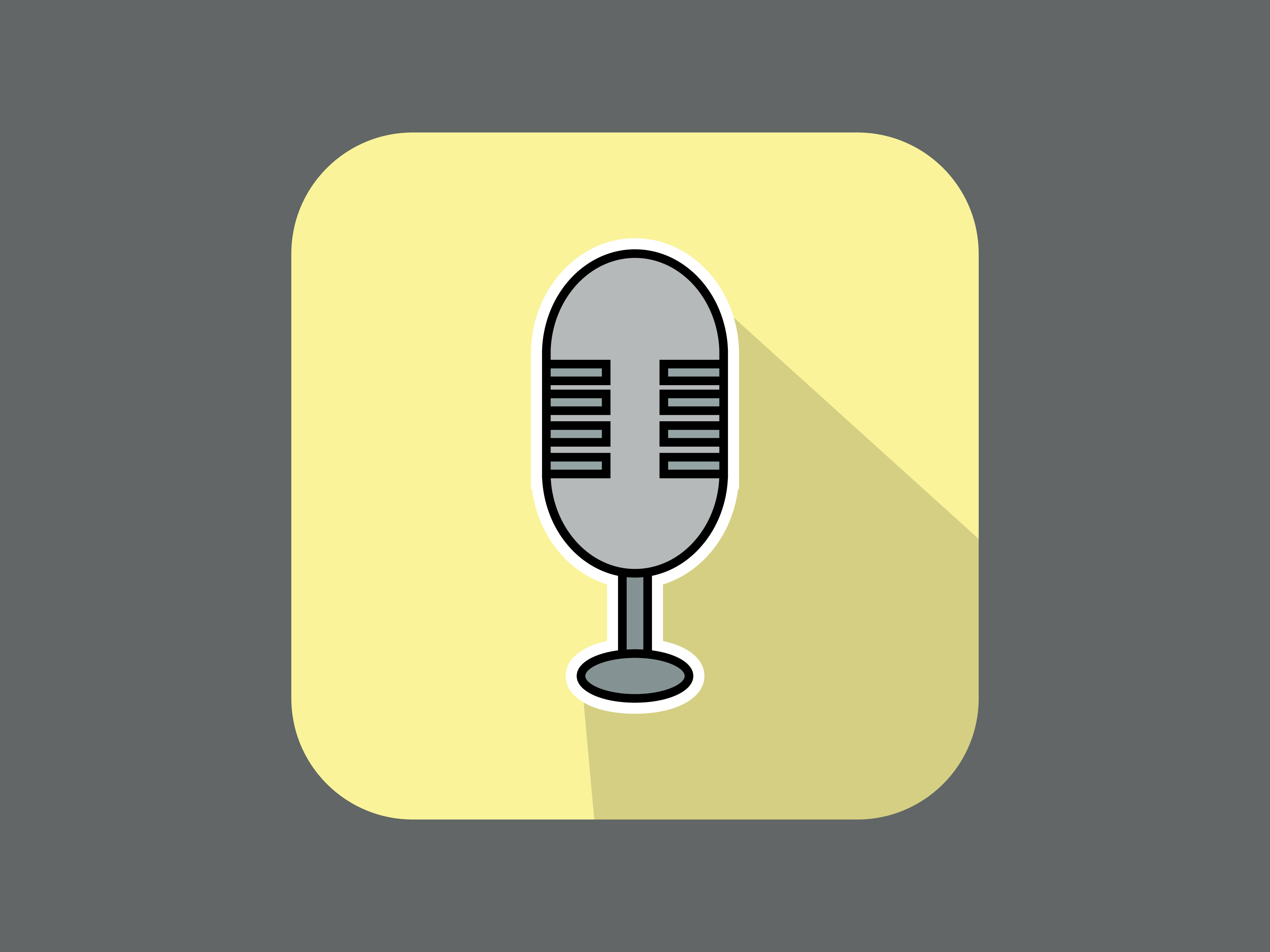 Download Free Icon Music Mic Modern Style Outline Graphic By Meandmydate for Cricut Explore, Silhouette and other cutting machines.