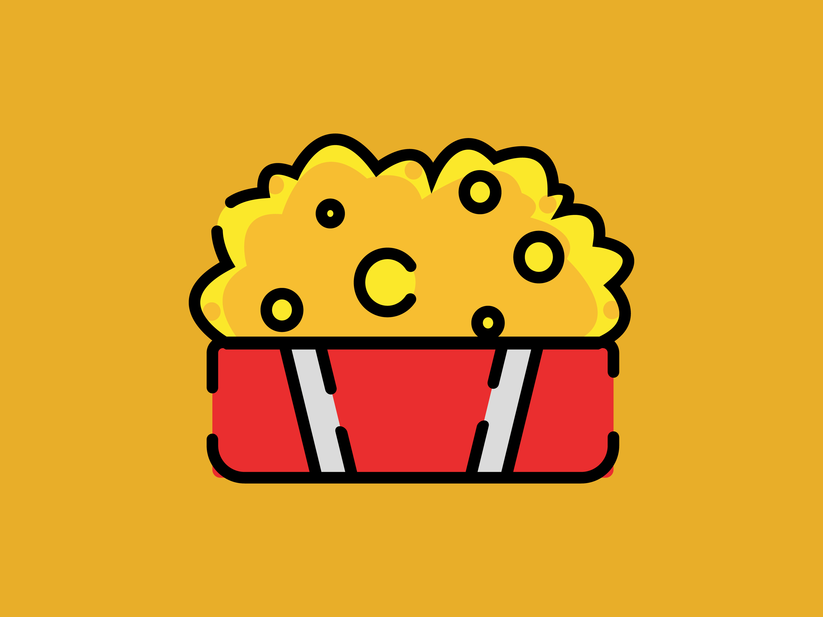Download Free Icon Small Popcorn Striped Line Graphic By Meandmydate for Cricut Explore, Silhouette and other cutting machines.