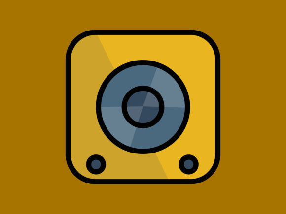 Download Free Icon Sound Speaker Small With Line Graphic By Meandmydate for Cricut Explore, Silhouette and other cutting machines.