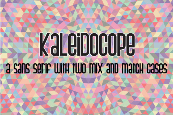 Print on Demand: Kaleidocope Sans Serif Font By Illustration Ink