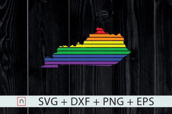 Download Free Kentucky State Map Rainbow Lgbt Pride Graphic By Novalia for Cricut Explore, Silhouette and other cutting machines.