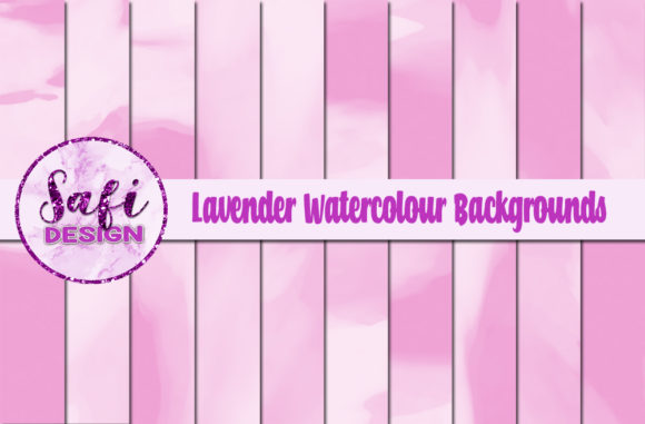 Print on Demand: Lavender Watercolour Digital Papers Graphic Backgrounds By Safi Designs