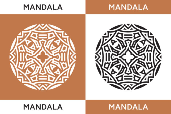 Download Free Mandala Geometric Graphic By Highvoice Creative Fabrica for Cricut Explore, Silhouette and other cutting machines.