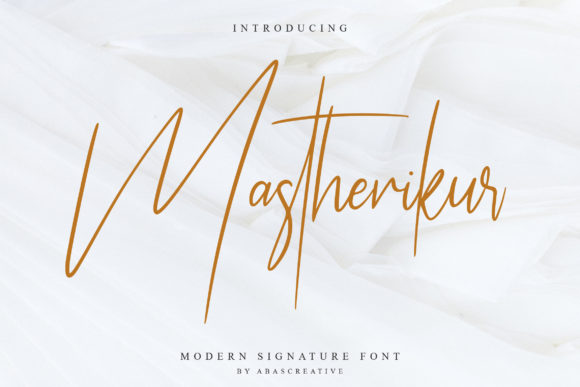 Download Free Mastherikur Font By Abascreative Creative Fabrica for Cricut Explore, Silhouette and other cutting machines.