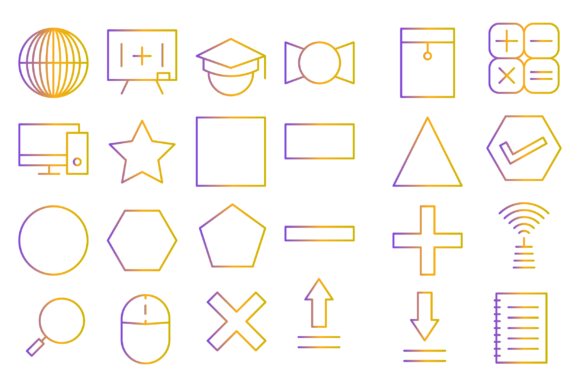 Download Free Mathematics School Icons Graphic By Designvector10 Creative for Cricut Explore, Silhouette and other cutting machines.