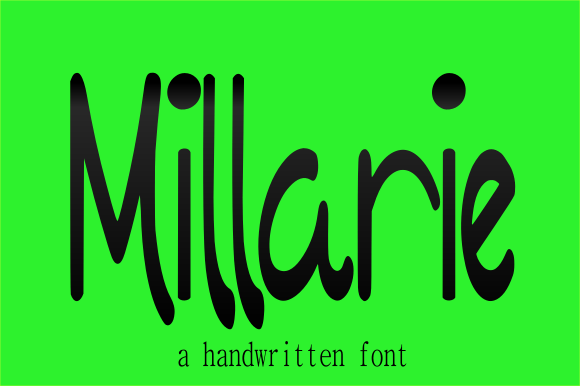 Print on Demand: Millarie Script & Handwritten Font By teguh pranata