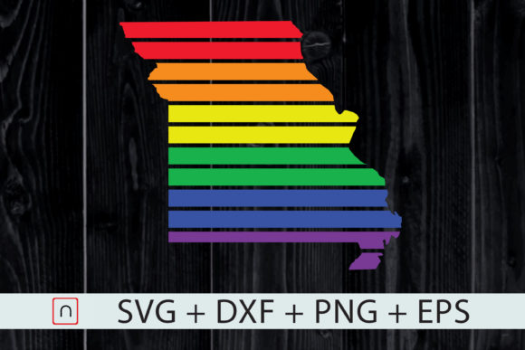 Missouri State Map Rainbow Lgbt Pride Graphic By Novalia