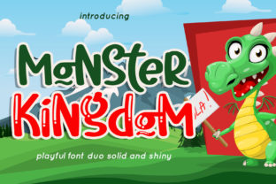Print on Demand: Monster Kingdom Display Font By airotype