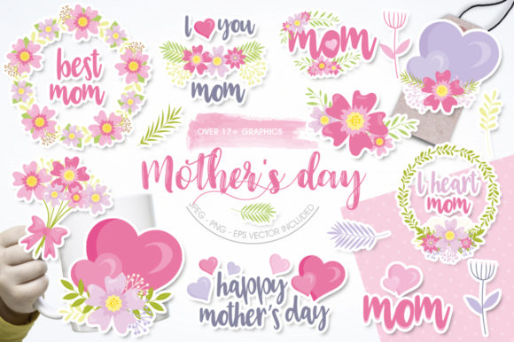 Print on Demand: Mother's Day Graphic Illustrations By Prettygrafik
