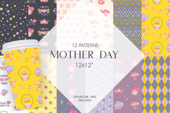 Print on Demand: Mothers Day Graphic Patterns By Prettygrafik