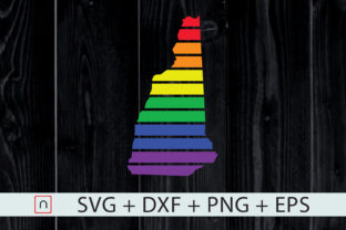 Print on Demand: New Hampshire State-Map Rainbow-LGBT Graphic Crafts By Novalia