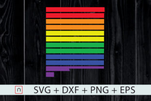 Print on Demand: New Mexico State-Map Rainbow-LGBT Pride Graphic Crafts By Novalia