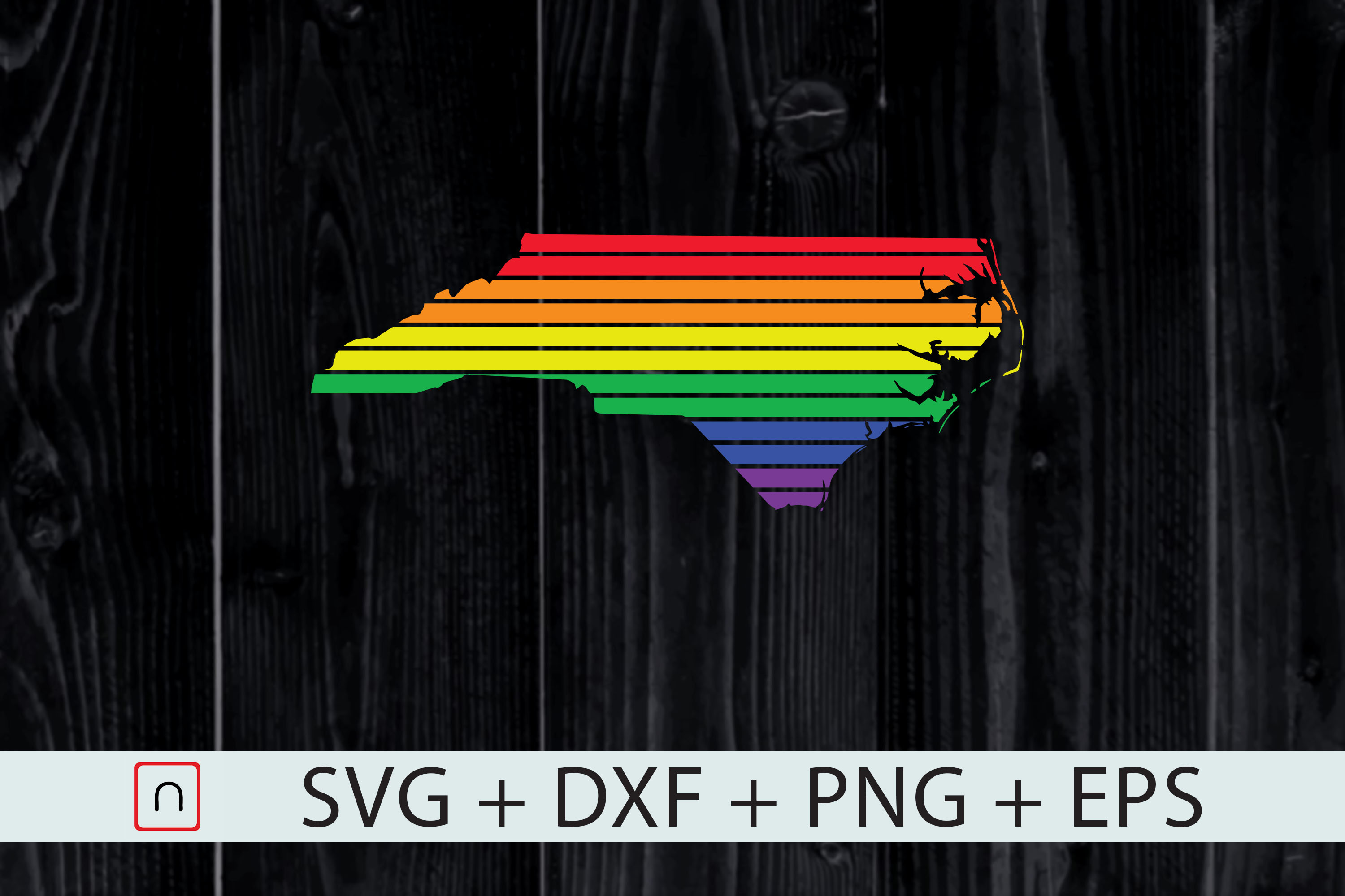 Download Free North Carolina State Map Rainbow Lgbtq Graphic By Novalia for Cricut Explore, Silhouette and other cutting machines.