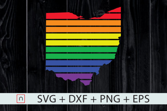 Download Free Ohio State Map Rainbow Lgbt Pride Graphic By Novalia Creative for Cricut Explore, Silhouette and other cutting machines.