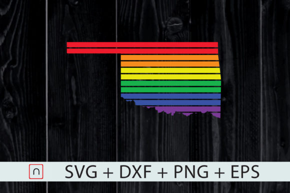 Download Free Oklahoma State Map Rainbow Lgbt Pride Graphic By Novalia Creative Fabrica for Cricut Explore, Silhouette and other cutting machines.