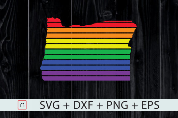 Download Free Oregon State Map Rainbow Lgbt Pride Graphic By Novalia for Cricut Explore, Silhouette and other cutting machines.
