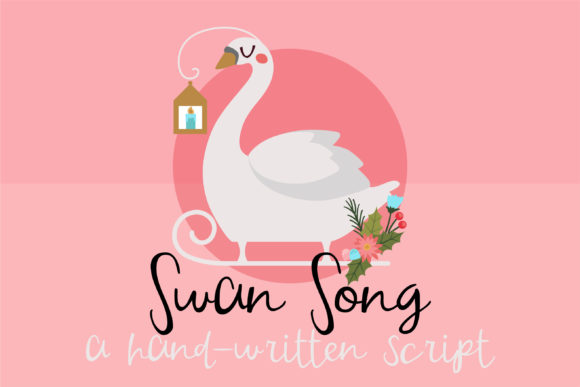 Print on Demand: PN Swan Song Script & Handwritten Font By Illustration Ink