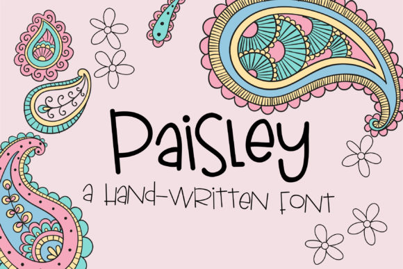 Print on Demand: Paisley Script & Handwritten Font By Illustration Ink