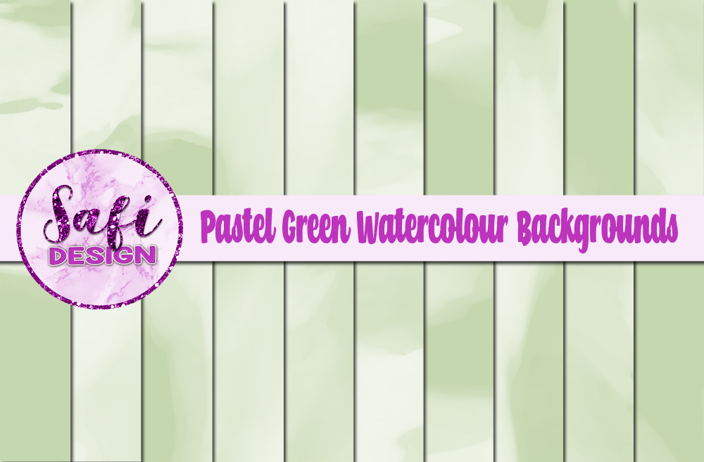 Download Free Pastel Green Watercolour Digital Papers Graphic By Safi Designs for Cricut Explore, Silhouette and other cutting machines.