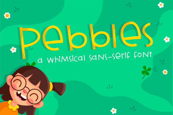 Print on Demand: Pebbles Script & Handwritten Font By Illustration Ink