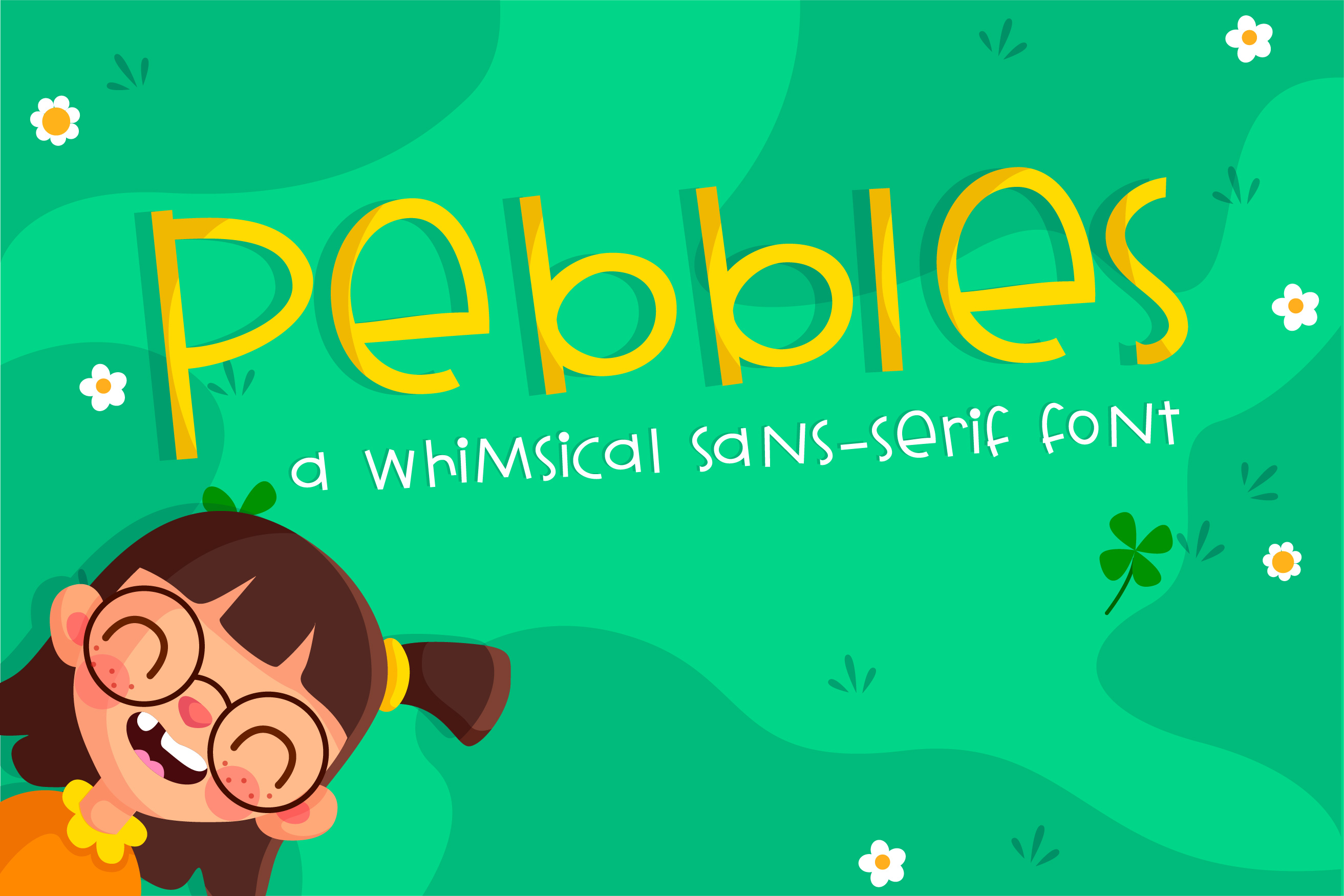 Download Free Pebbles Font By Illustration Ink Creative Fabrica for Cricut Explore, Silhouette and other cutting machines.