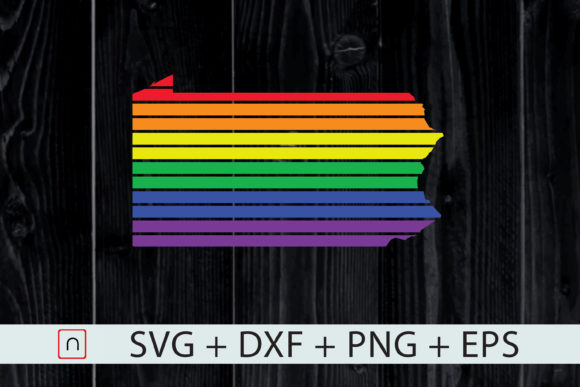 Download Free Pennsylvania State Map Rainbow Lgbt Graphic By Novalia for Cricut Explore, Silhouette and other cutting machines.