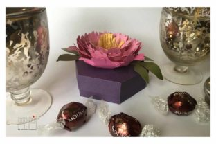 Peony Box Graphic 3D Flowers By patrizia.moscone