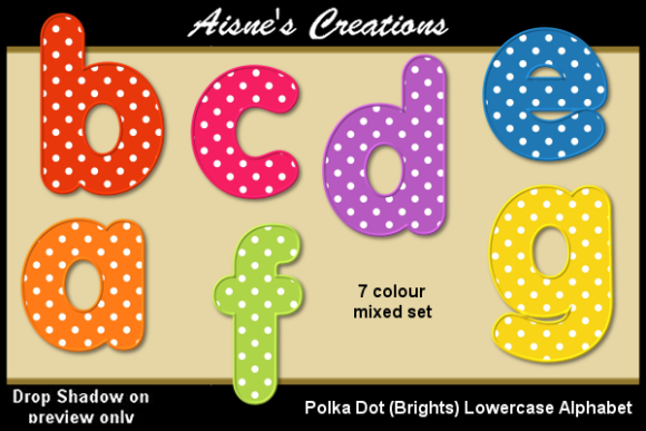 Download Free Polka Dot Brights Lowercase Alphabet Graphic By Aisne for Cricut Explore, Silhouette and other cutting machines.
