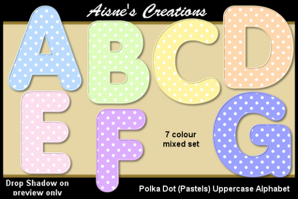 Polka Dot Pastels Uppercase Alphabet Graphic By Aisne