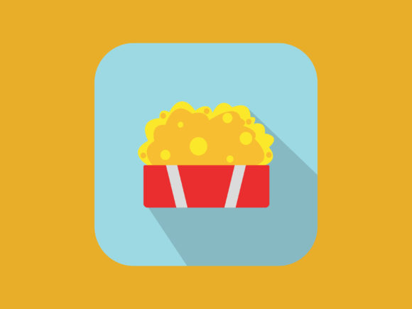 Download Free Popcorn Icon Modern Style Full Color Graphic By Meandmydate for Cricut Explore, Silhouette and other cutting machines.
