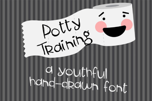Print on Demand: Potty Training Script & Handwritten Font By Illustration Ink