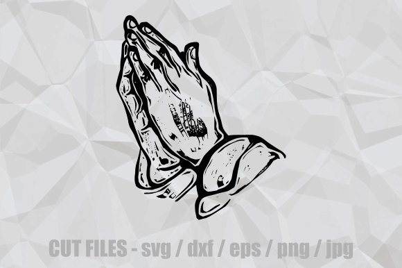 Print on Demand: Praying Hands Christian Faith Cut File Graphic Crafts By Prawny
