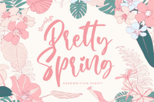 Print on Demand: Pretty Spring Script & Handwritten Font By Yumna_Type