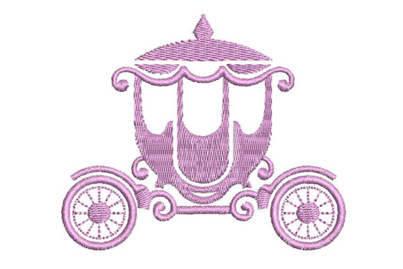 Print on Demand: Princess Pink Carriage Fairy Tales Embroidery Design By Embroidery Shelter