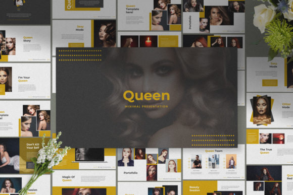 Download Free Queen Creative Powerpoint Graphic By Temp Here Creative Fabrica for Cricut Explore, Silhouette and other cutting machines.