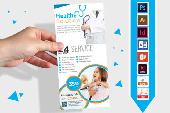 Download Free Rack Card Doctor Medical Dl Flyer V3 Graphic By Imagine for Cricut Explore, Silhouette and other cutting machines.