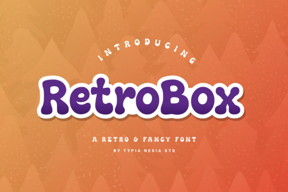 Print on Demand: Retrobox Display Font By Typia Nesia