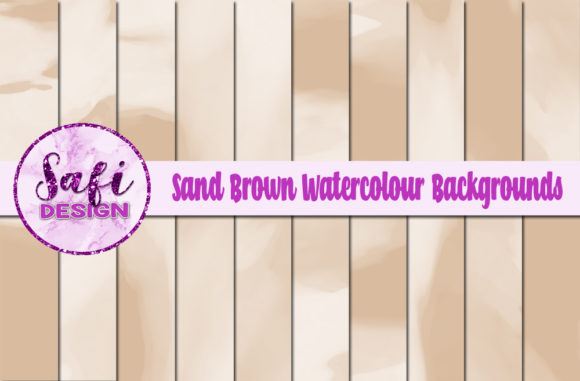 Download Free Sand Brown Watercolour Digital Papers Graphic By Safi Designs for Cricut Explore, Silhouette and other cutting machines.