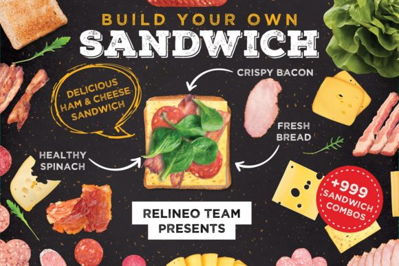 Sandwich Builder / Creator Graphic Scene Generators By Relineo