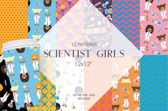 Download Free Scientist Girls Graphic By Prettygrafik Creative Fabrica for Cricut Explore, Silhouette and other cutting machines.