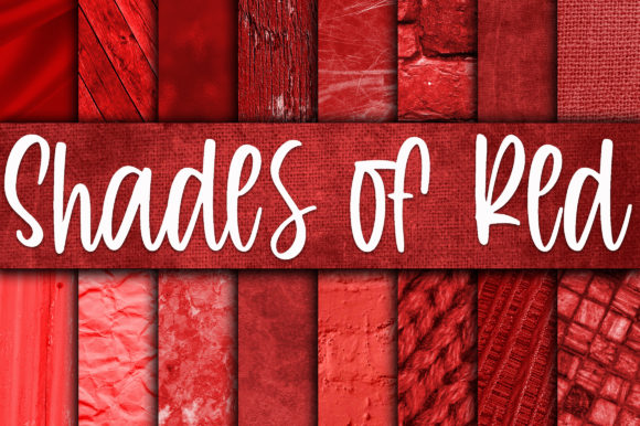 Print on Demand: Shades of Red Digital Paper Textures Gráfico Crafts Por oldmarketdesigns